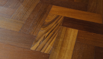 Sample of Burmese Teak Parquet