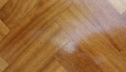 Sample of Sapele Mahogany Parquet