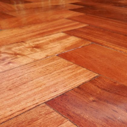 Sample of Rhodesian Teak Parquet